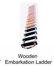 Wooden Embarkation Ledder